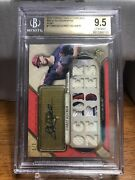 2017 Triple Threads Corey Kluber Ruby Relic Auto 1/1 Bgs 9.5 Chief Wahoo Patch🔥