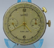 V.rare Complete Vintage Eberhard And Co Extra-fort Chronograph Cal.16000 Movement