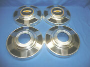 Set Of 4 1977-87 Chevy 3/4 Ton K20 Truck 4x4 12 Dog Dish Hubcaps