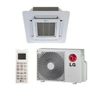 Lg - 9k Btu Cooling + Heating - Ceiling Cassette Air Conditioning System - 20...