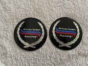 Set Of 2 American Racing Sticker Center Cap Decals Excellent Cond. - 4.25 Inch
