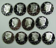 1999-2000 To 2019-2020 Silver Proof Cameo Kennedy Half Dollar Run 22 Coins