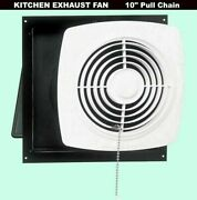 Kitchen Exhaust Fan 10 Pull Chain White Wall Ventilation Laundry Room Workshop