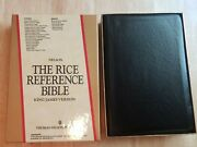 The Rice Reference Bible Kjv, Nelson, 1981, Black Bonded Leather, Excellent Cond