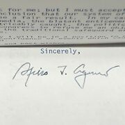 Spiro Agnew Signed Typed Dec 4 1973 To Spouse Of Strom Thurmond Niece Post-resig