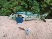 Rare Hard To Find Working 1930's Marx Fish Tin Windup Toy Great Graphics