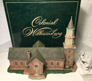 Lang And Wise Colonial Williamsburg Porcelain Bruton Parish Church New In Box