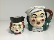 Toby Mugs2made In Japan Miniature And Larger One With Judgmental Look