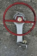 Vintage Attwood Boat Steering Wheel With Steering Assembly
