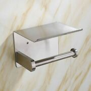 Toilet Roll Paper Towel Holder Shelf Wall Mounted Bathroom Kitchen Accessories