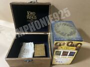 The Lord Of The Rings Trilogy Taiwan 12 Dvd Set W/promo Wooden Box And Poker Rare