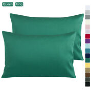 2 Pack 100 Cotton Sateen Pillow Cases Ultra Silky Pillowcases Queen King Size