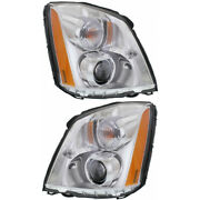 Fits 2006-2011 Cadillac Dts Pair Headlights Hid Type Driver And Passenger