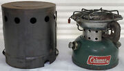 Coleman Model 502 Camp Stove With Heater Cover 04/1974