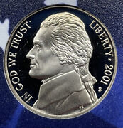 2001 S Proof Jefferson Nickel From Proof Set With Free Shipping
