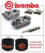 Brembo M4 Front Brake Calipers To Fit Honda Cbr600rr 2005 - 2016 Rc Pad Upgrade