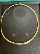 14k Gold Italian Omega 16 Inch 19gm Necklace 5mm. Not Scrap.