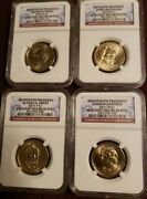 2010,11 Pandd Presidential Dollars 4 Coin Set Ngc Brilliant Uncirculated..lot G