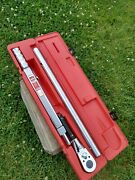 Snap-on Tqr 600b Torque Wrench 200-600 Ft.lbs/ 300-800nm L72t With Case