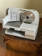 Chef's Choice Premium Electric Food Meat Slicer Model 610 W/ Tray