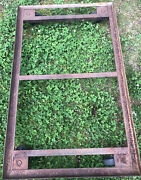 Vintage Industrial Steel 44andrdquo 26.5andrdquo Pallet Cart / All Purpose Dolly Salvage