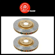 Dba For Lancer Evo 08-11 Front Drilled And 4000 Slotted Series Rotor Pair