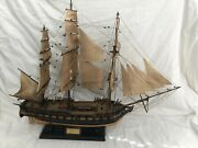Uss Constitution Large 41 Wooden Model Ship W/canvas 22 Sails 1797 + 38 Canons