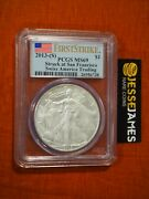 2013 S Silver Eagle Pcgs Ms69 Struck At San Francisco First Strike Flag Label