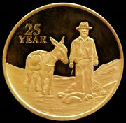 1 Oz Gold Newmont Corporation Prospector Proof 25 Years Of Service