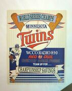 Vintage 1988 Red Owl Grocery Store Advertising Coupons Mn Twins World Champs