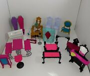 Monster High Freaky Catacombs And Mixed Furniture Lot Used 2013
