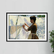 Charles Courtney Curran - Shadows 1887 Poster Art Print Painting Gift