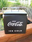 Coke Coca Cola Retro Styled Metal Cooler Esky With Bottle Opener  Picnic Beach