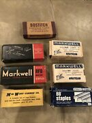 7 Boxes Vintage Markwell Swingline Bostitch Staples