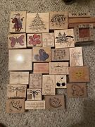 Stampin Up Lot Of 159 Stamps - Rubber Stamp Collection - Stampin Up