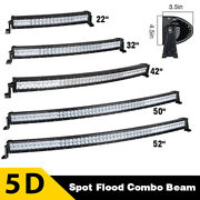 22/32/42/50/52 Inch 5d Led Curved Light Bar Offroad For Jeep Suv Truck 4x4 Boat
