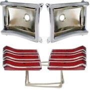 Tail Lamp Lens - Bezel - Gasket Set For 1966 Plymouth Belvedere Ii And Satellite