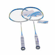 2 Player Badminton Racquets Set Lightweight Adults Full Carbon Double Rackets