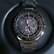 Seiko Astron Sbxb125 Day Date World Time Gps Solar Mens Watch Authentic Working