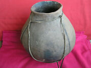 134. Authentic/genuine Native American Fired Clay Storage Pot/vessel.