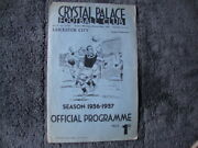 1936/7 Crystal Palace Res V Leicester City Res / London Combination