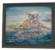Lucy In The Sky 20x16 Original Oil Painting Gold Frame Signed Art