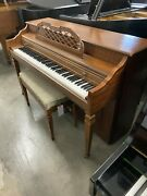 Schafer And Sons Spinet Upright Piano 38 Satin Walnut
