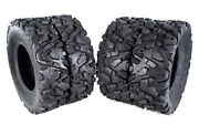 Massfx Two Front 25x8-12 And Two Rear 25x10-12 Atv Tires Four Pack