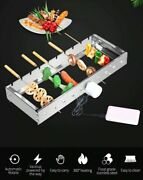 Voraca Automatic Flipping Barbecue Grill With 10 Bbq Sticks Adjustable Rolin New