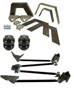 Rear Universal Weld On Kit 8 Frame Notch Triangulated 4 Link Slam Ss-7 Air Bags