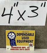 Ih Blue Ribbon Magnet Dependable Used Equipment Farm Agriculture Diesel Gas Oil