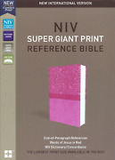 Niv Super Giant Print Ref. Bible Imitation Leather Pink Brand New In Shrink Wrap