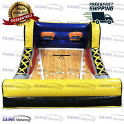 10x10ft Inflatable Basketball Hoop Carnival Sport Game Play With Air Blower