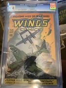 Wings Comics 59 Cgc 9.4 Fiction House 1945 Off-white Pages